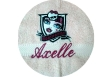 Towel 50x100 cm embroidery badge