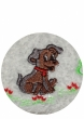 Towel 50x100 cm embroidery dog