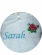 Towel embroidery flower